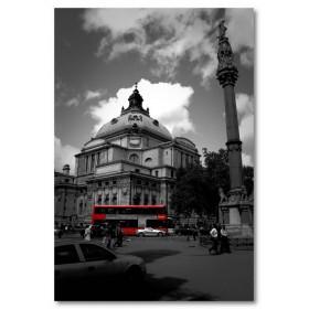 Αφίσα (μαύρο, λευκό, άσπρο, λεωφορείο, εκκλησία)